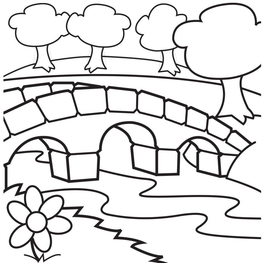 coloring pages bridge - photo#28