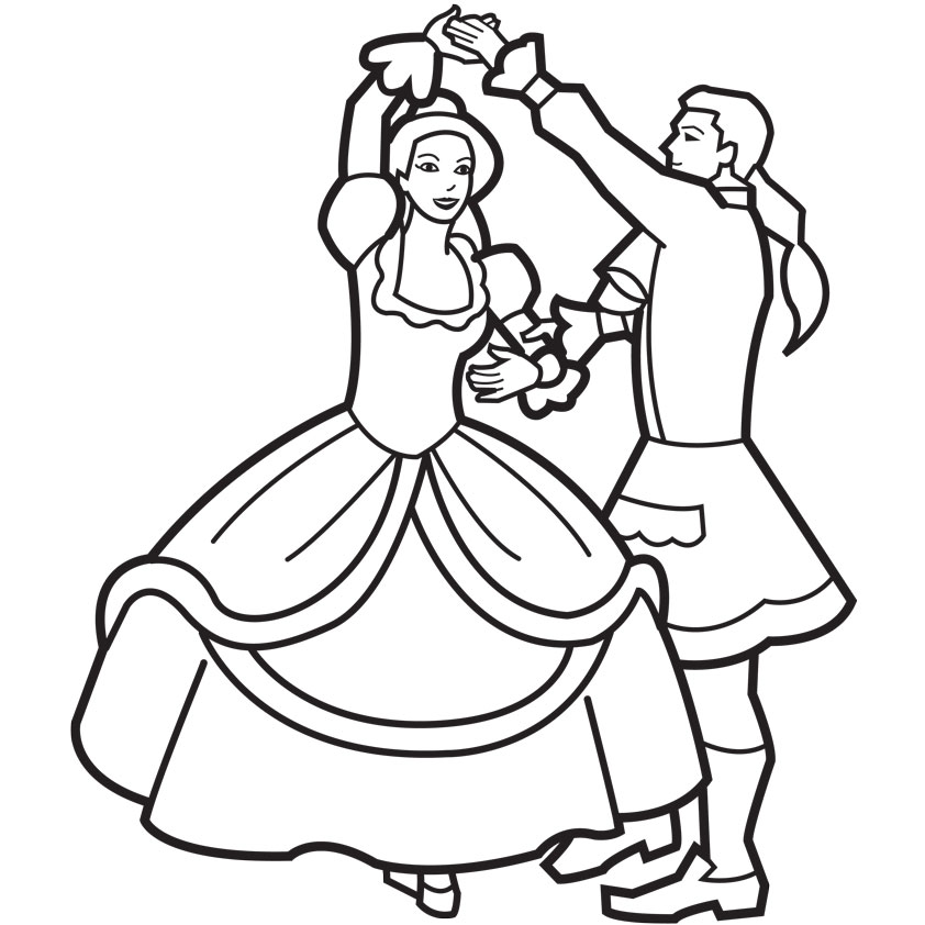 ballroom dancer coloring pages - photo#32