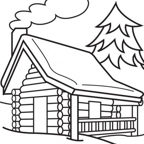 Log Coloring Page