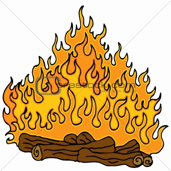 Burning Wood Clipart log 20fire 20clipart