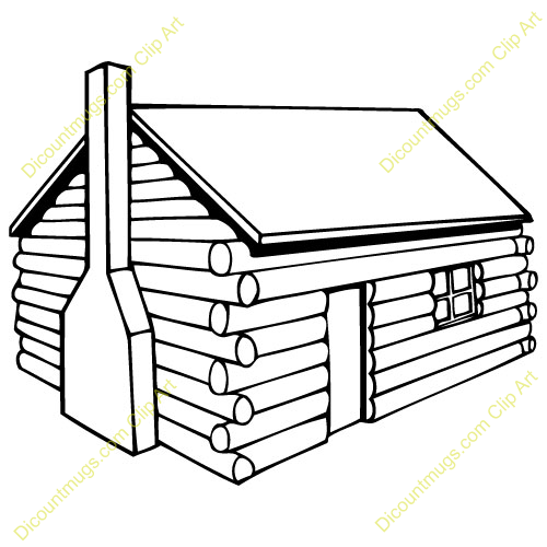 coloring pages cabin - photo#31