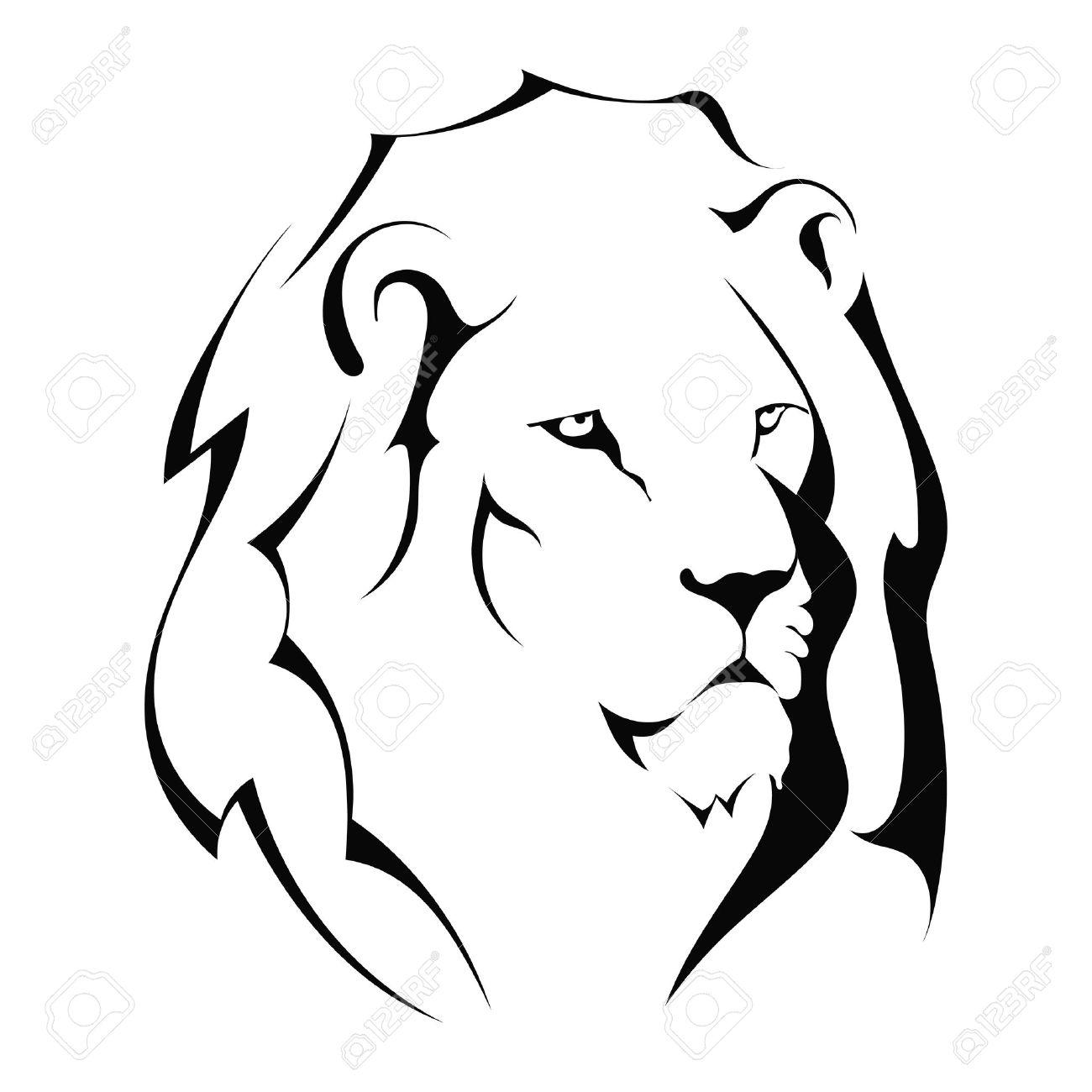 Simple lion head clipart - photo#8