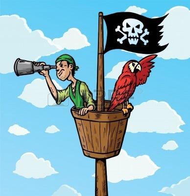 Lookout Cartoon Pirate Scout Clipart Panda Free