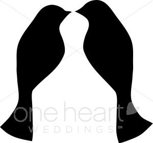 Love Birds Clip Art Silhouette | Clipart Panda - Free ...