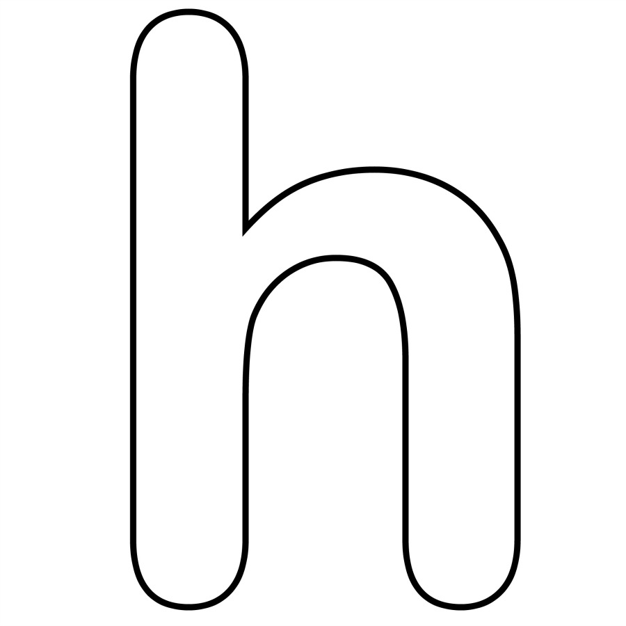 letter h coloring pages letter h printable alphabet letter h