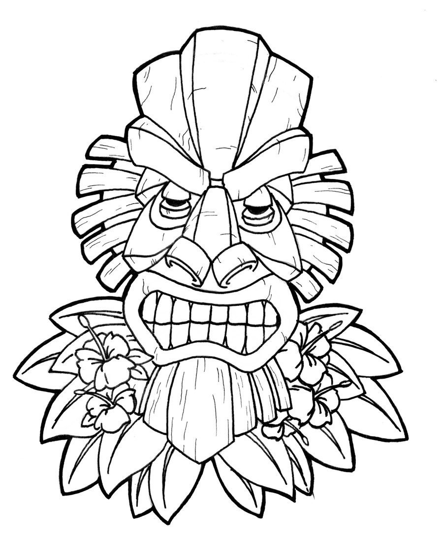 coloring pages tiki - photo #5