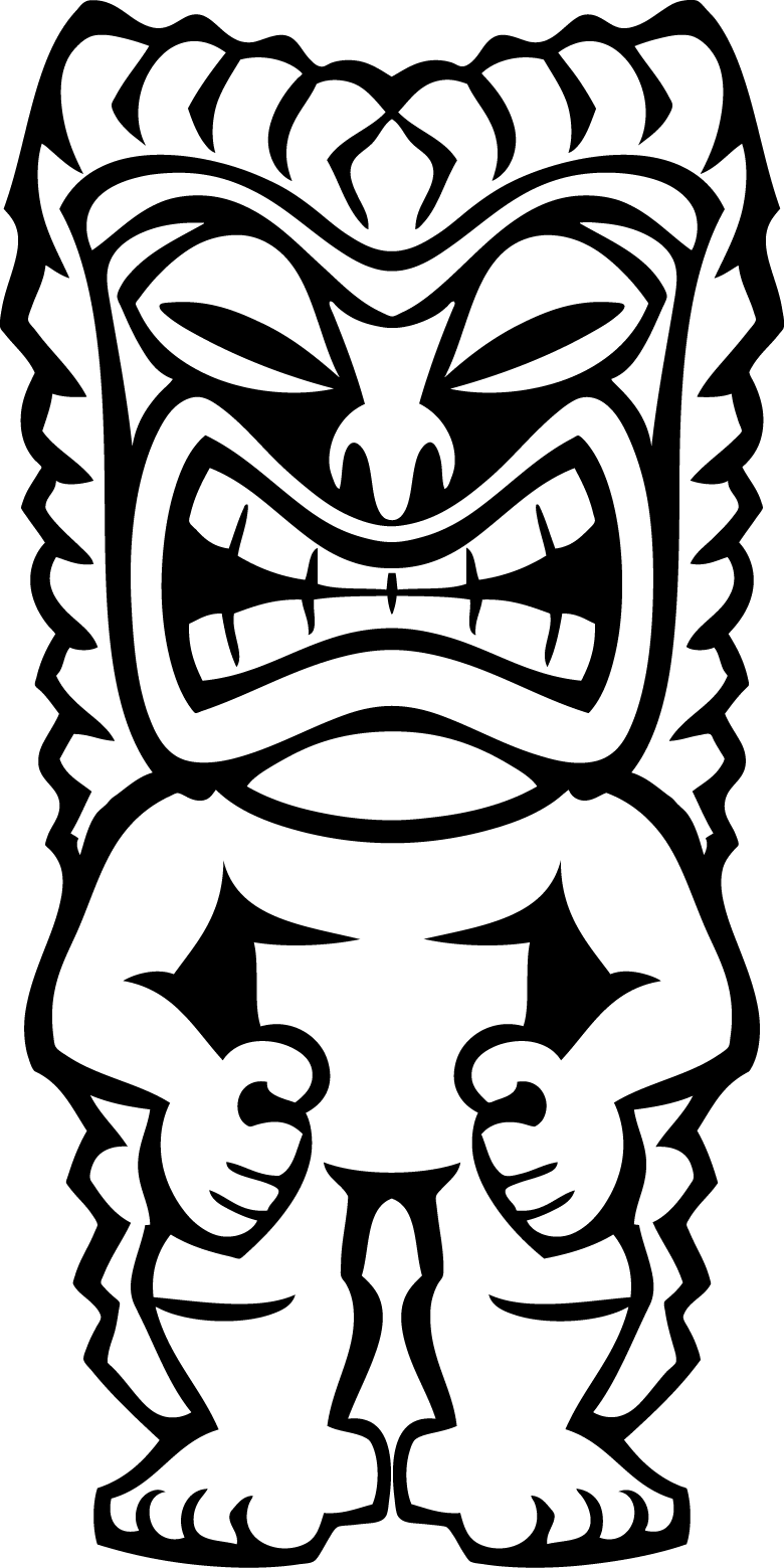 Hawaiian Tiki Clip Art Car Interior Design Tiki Coloring Pages