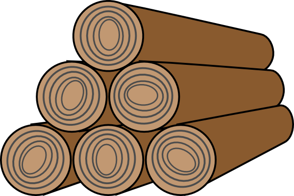Wood logs cartoon