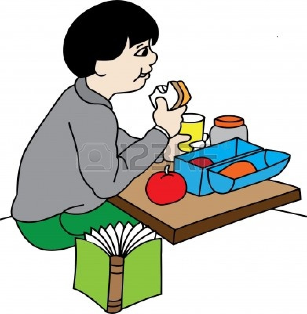 Royalty-Free (RF) Boy Eating Lunch Clipart, Illustrations ...