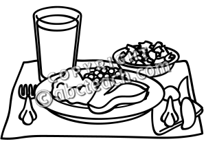 lunch%20clipart%20black%20and%20white