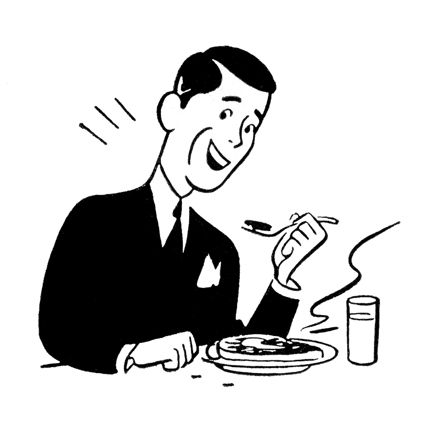 lunch-clipart-black-and-white-father-in-law-clipart-Retro-FathersDay    Only Father Clipart Black And White