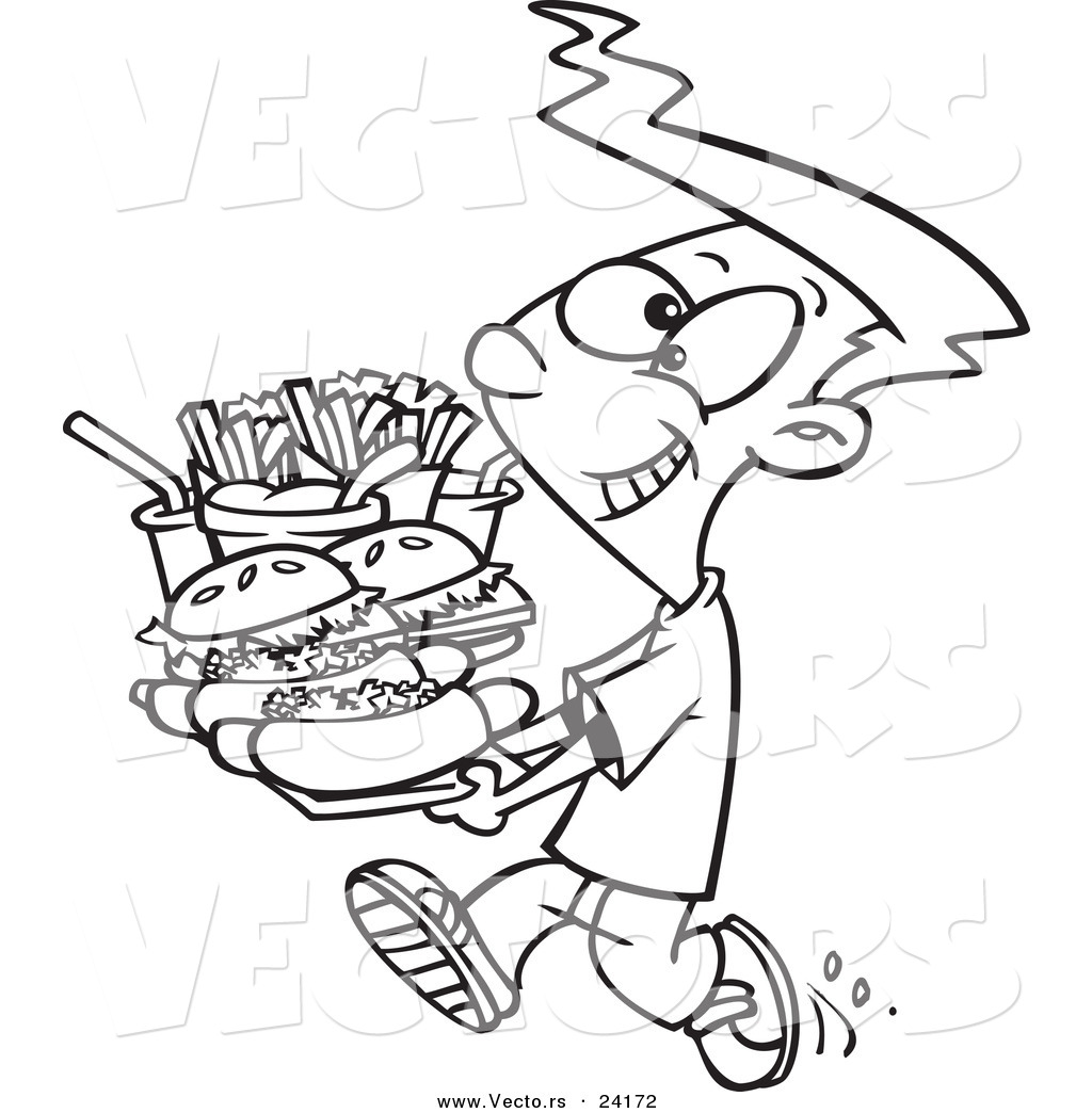 Free Coloring Pages Of Eating Junk Food