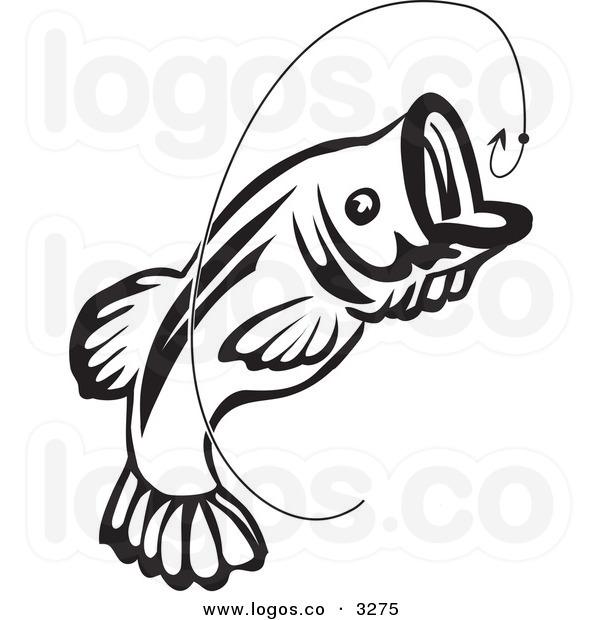 Bass Fish Clip Art Black And White