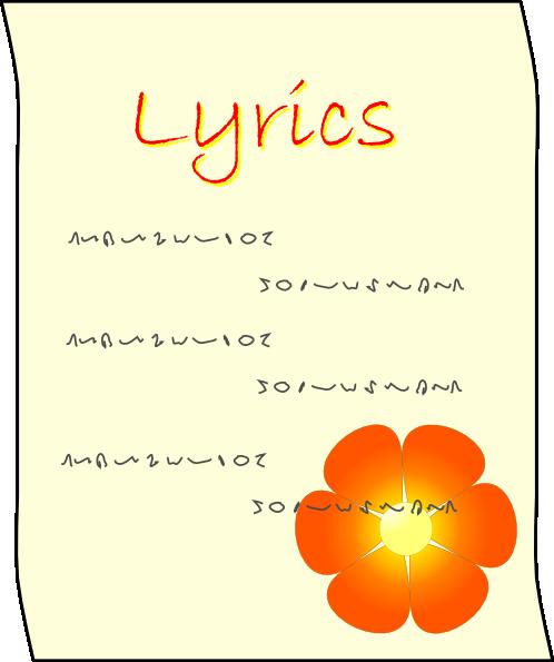 Lyrics Clipart Clipart Panda Free Clipart Images