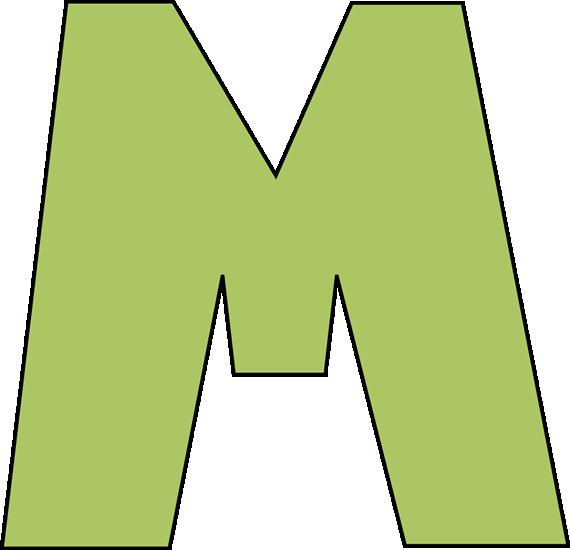 green letter m clip art image clipart panda free clipart images rh clipartpanda com decorative letter m clipart letter m clipart black and white