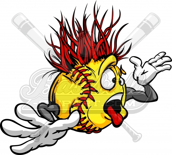 Softball Ball Clip Art Crazy softball ball madness