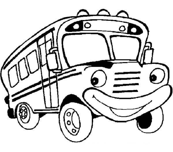 Magic school bus coloring page clipart panda free for Magic school bus coloring page