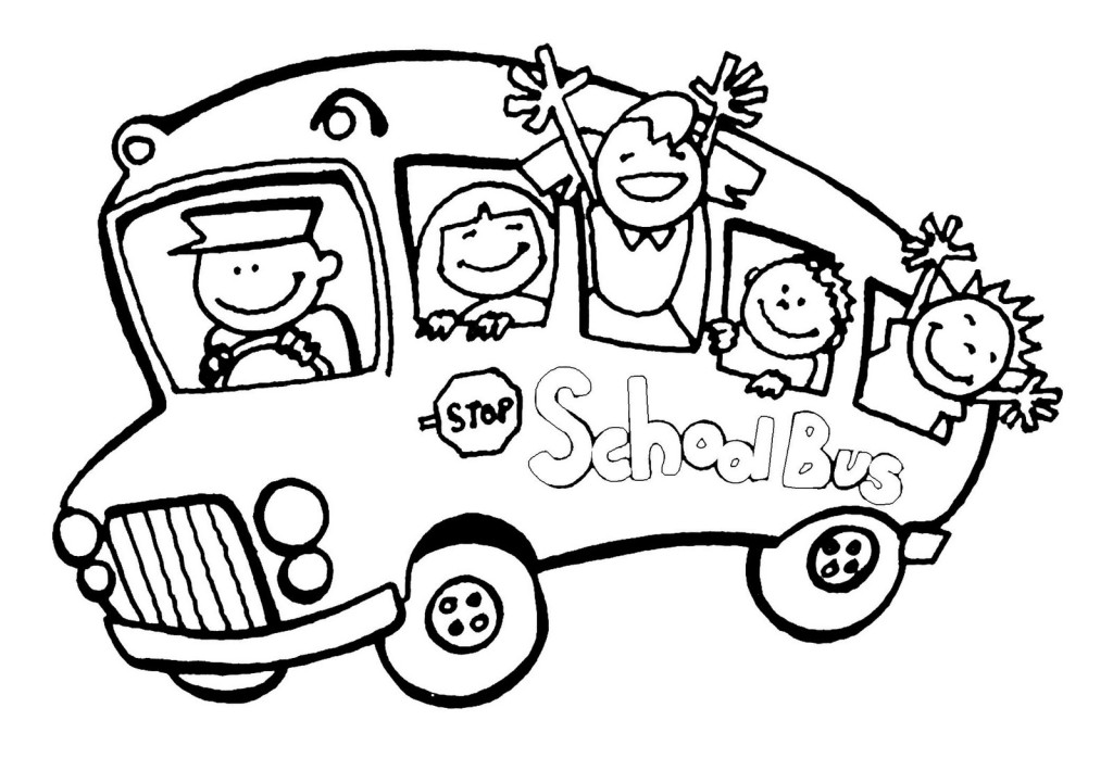 Wheels on the bus coloring page clipart panda free for Magic school bus coloring page