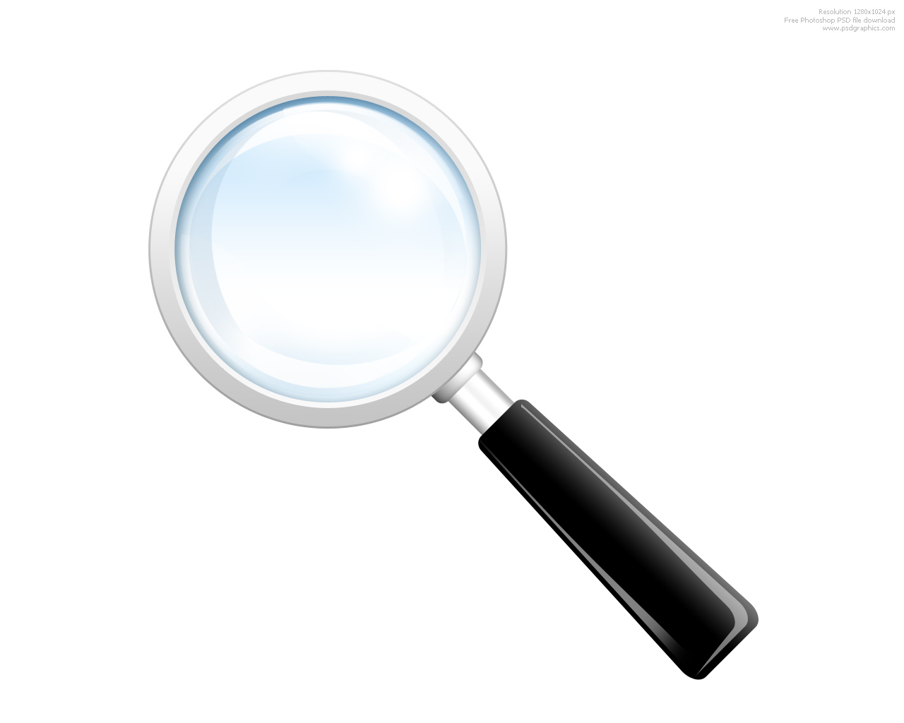 Magnifying Glass Black And White