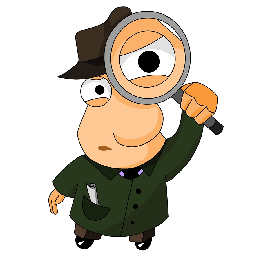clipart magnifying glass detective - photo #12