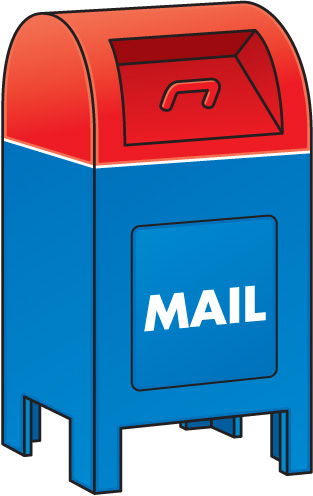 Mail a letter to a friend or staff member in school.
