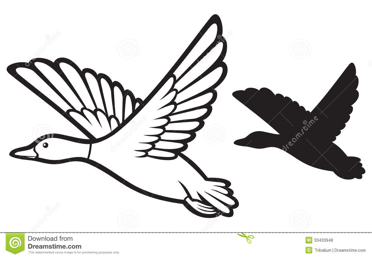 Flying Duck Clipart Black And White | Clipart Panda - Free Clipart ... for duckling clipart black and white  557ylc