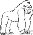 Gorilla Clipart Black And White | Clipart Panda - Free ...