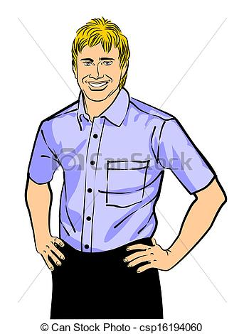 Vector - Smiling young man | Clipart Panda - Free Clipart ...