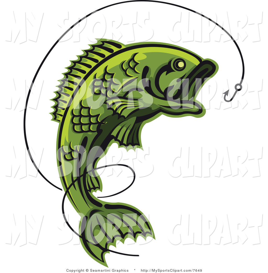 Fishing hook and line clipart