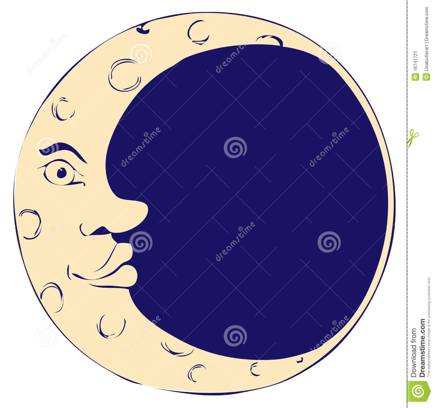 Man In The Moon Art | Clipart Panda - Free Clipart Images