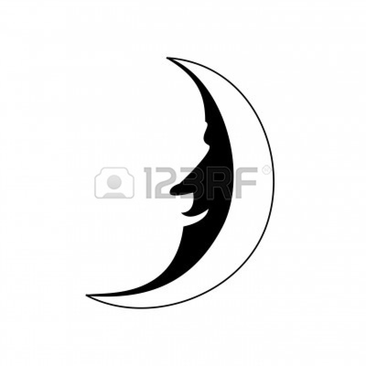 man in the moon clipart - photo #20