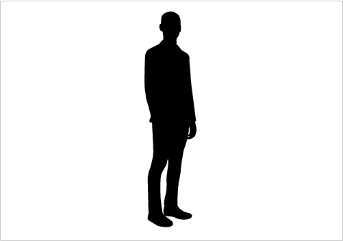 Image Gallery standing silhouette
