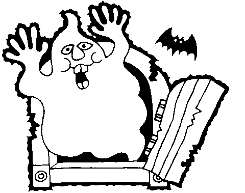 Halloween Clip Art Black And White Ghost | Clipart Panda - Free ...