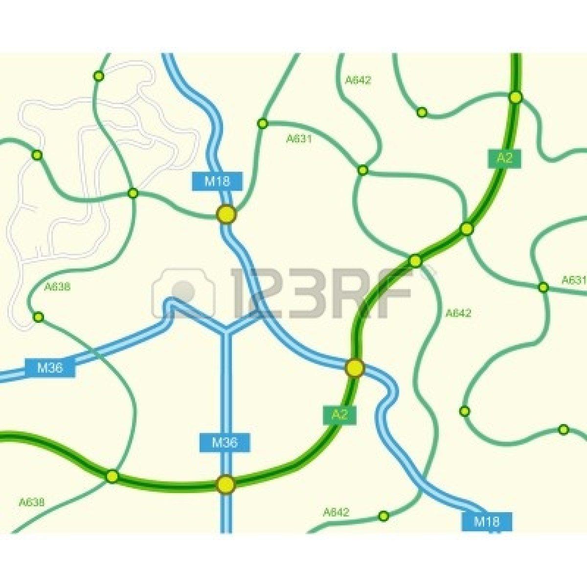 Lovely Map Clip Art