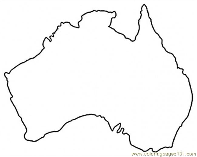 Australia map free colouring pages for Australia map coloring page