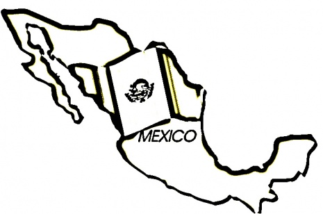 Map coloring page clipart panda free clipart images for Mexico map coloring page