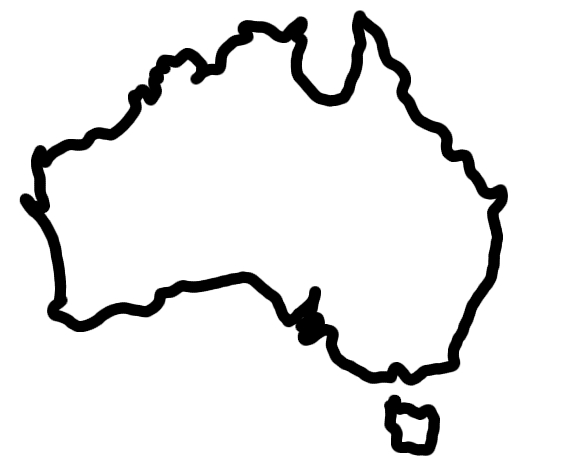 Map coloring page clipart panda free clipart images for Australia map coloring page