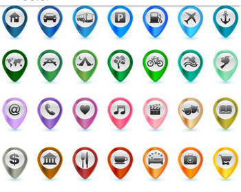 vector google map icon download