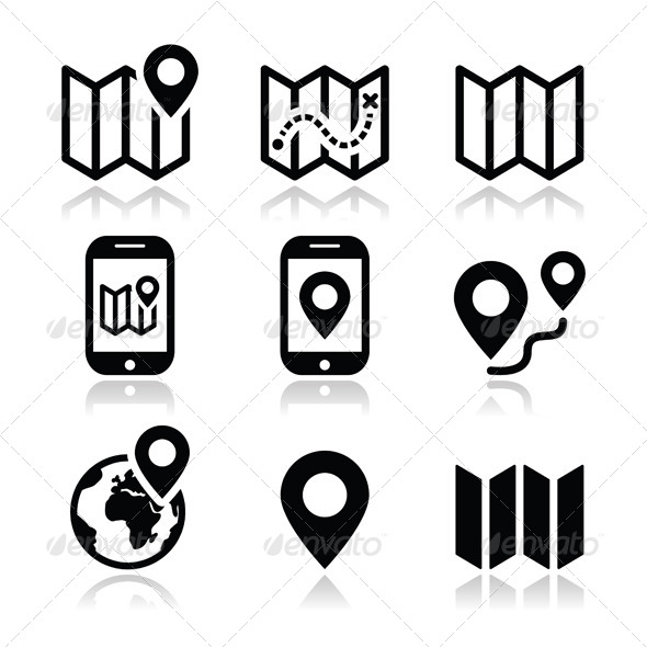 Map Travel Icons Set - Travel | Clipart Panda - Free Clipart Images