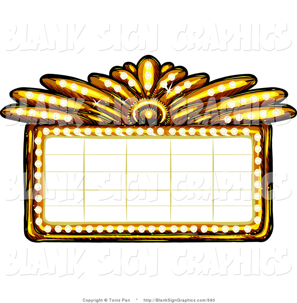 Broadway Lights Border Clipart Marquee 20clipa...