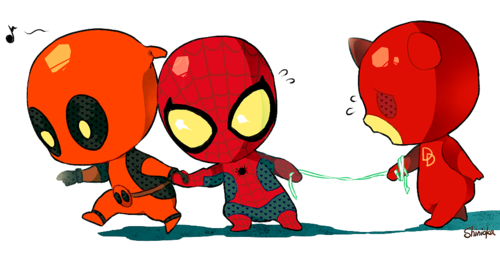 baby Spiderman DeadpoolSpiderman Baby Gif