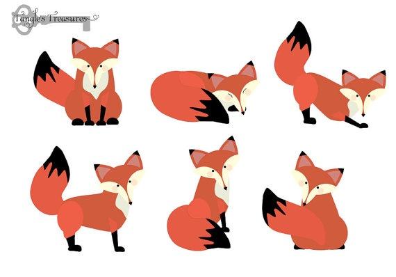 Baby fox clipart clipart panda free clipart images - Clipart renard ...
