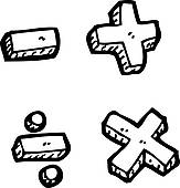 Math Symbols Clipart Black And White | Clipart Panda ...