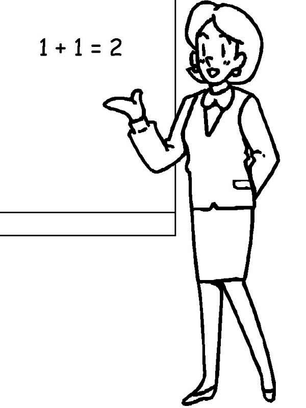 Illustration Of A Teacher On A White Background Royalty Free ...