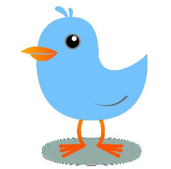 Twitter tweet. Bird maya blue clipart