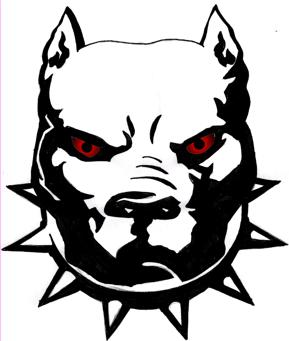 Mean dog face clipart red eyes dog face tattoo sle