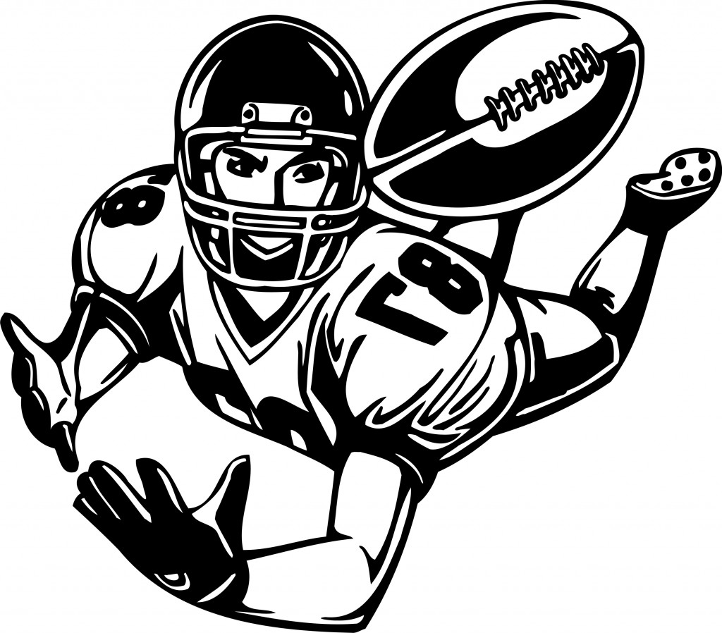 Line Drawing Football : Mean football player clipart panda free