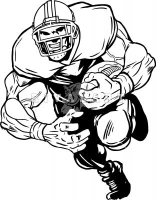 Running Football Player Clipart
