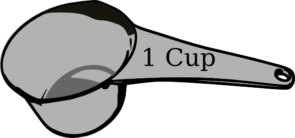 Dry Measuring Cup Clipart | Clipart Panda - Free Clipart ...