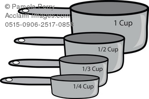 Measuring Cup Clipart Black And White | Clipart Panda ...